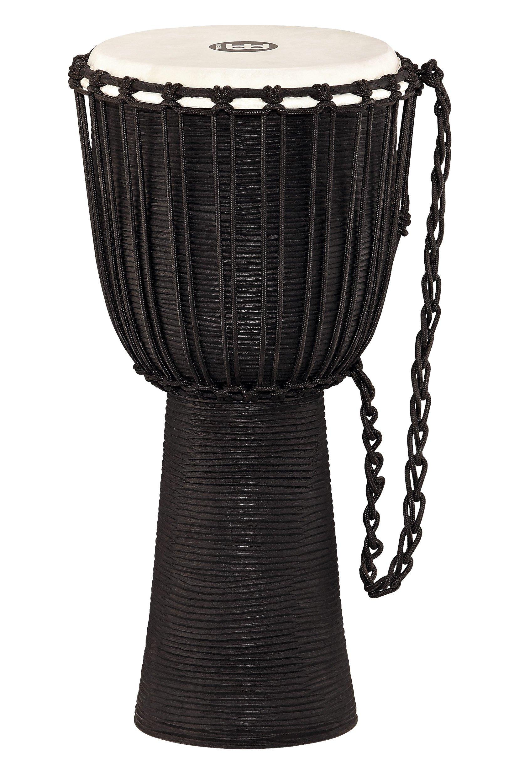 "12"" Black River Series Rope Tuned Wood Djembe"