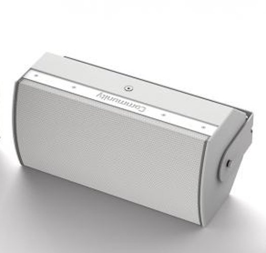 """White High Output Dual 8"""" Two-Way Installation Loudspeaker, 90 x 60, 70V/100V, For Indoor Use"""