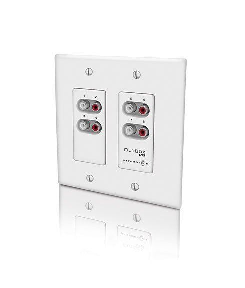 Dual-Gang CobraNet 8-Channel Audio Output Interface Wallplate