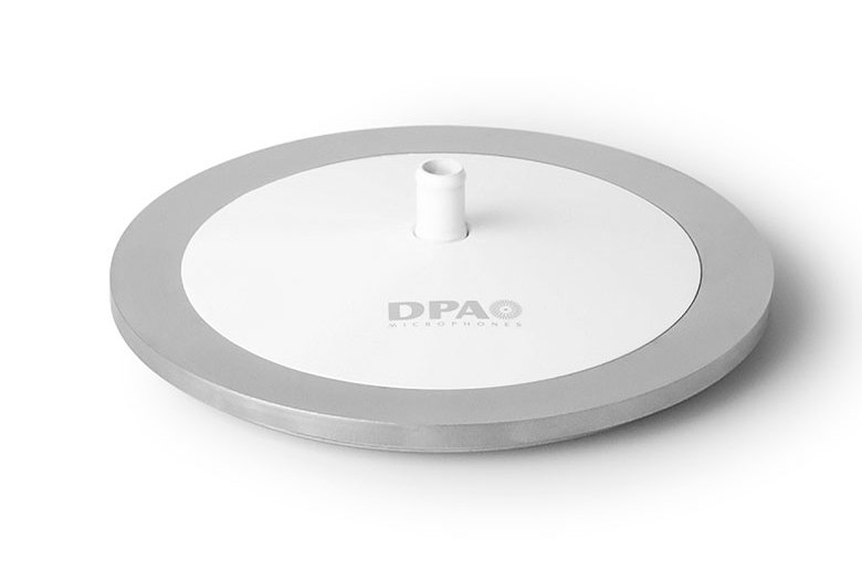 Microphone Base  in White with Microdot Termination