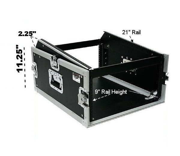 Elite Core Audio OSP MC12U-4 ATA 4RU Mixer/Amp Rack with Slant Top for 12 Space Mixer OSP-MC12U-4