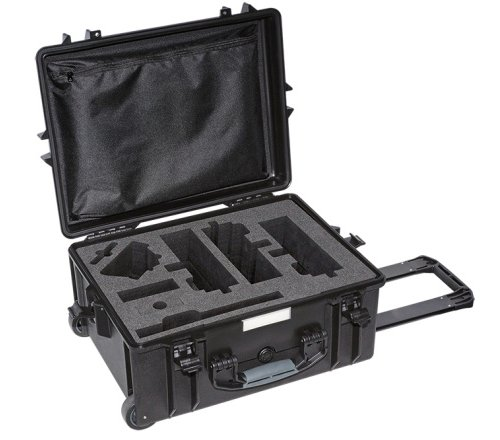 Empty Hard Case with Pull-Handle, Wheels, and Foam Cut-Outs for XIRIUM PRO