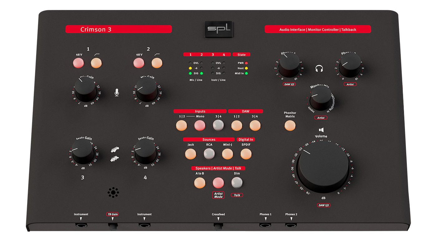SPL Sound Performance Lab Crimson 3 USB Audio Interface and Monitor Controller CRIMSON-3