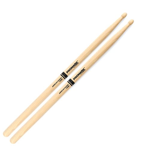Hickory 2B Wood Tip Drums Sticks (PAIR)