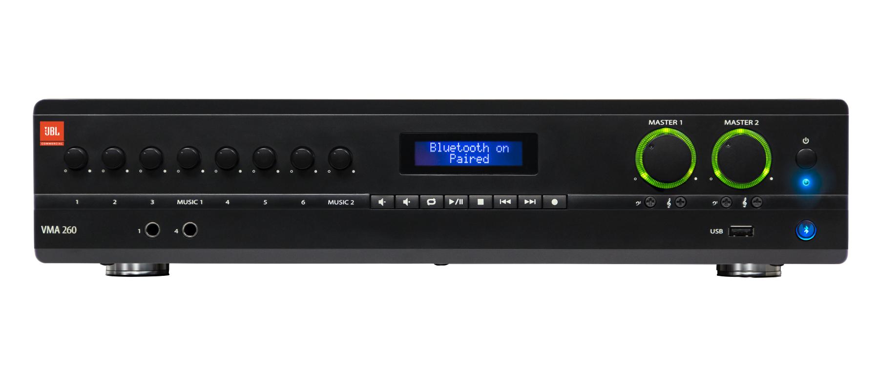 Mixer/Amplifier 8 Input x 2 60-Watt Output