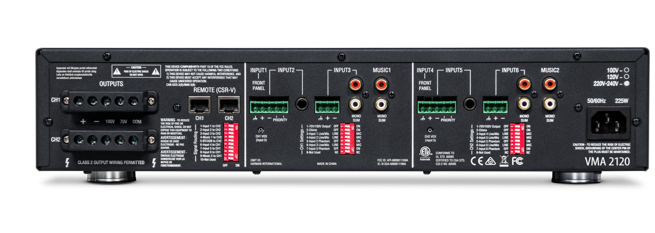 Mixer/Amplifier 8 Input x 2 120-Watt Output