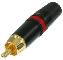 REAN Gold RCA Plug with Red Color Coding Ring