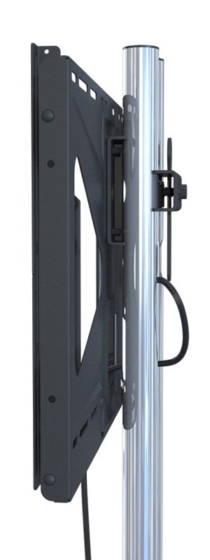 "Low-Profile Floor Stand with 84"" Dual Poles and Tilting Mount, for Flat-Panels up to 160 lbs"