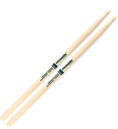 """The Natural"" Hickory 5A Wood Tip Drum Sticks"