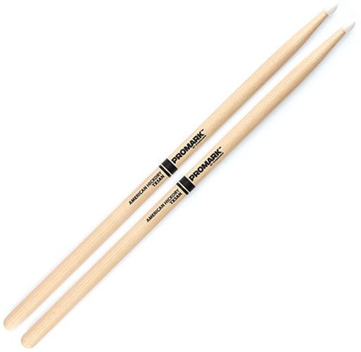 "1 Pair of 5A Hickory, 16"" L Drumsticks with Nylon Tips"
