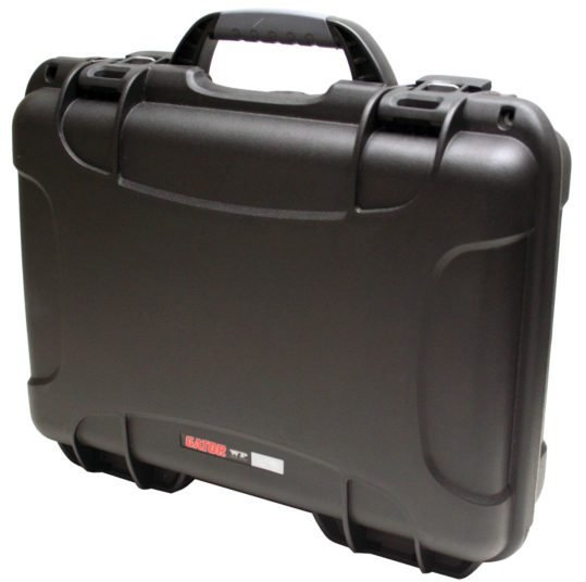 "Black Waterproof Utility Case with Diced Foam Interior, 13.2""x9.2""x3.8"""