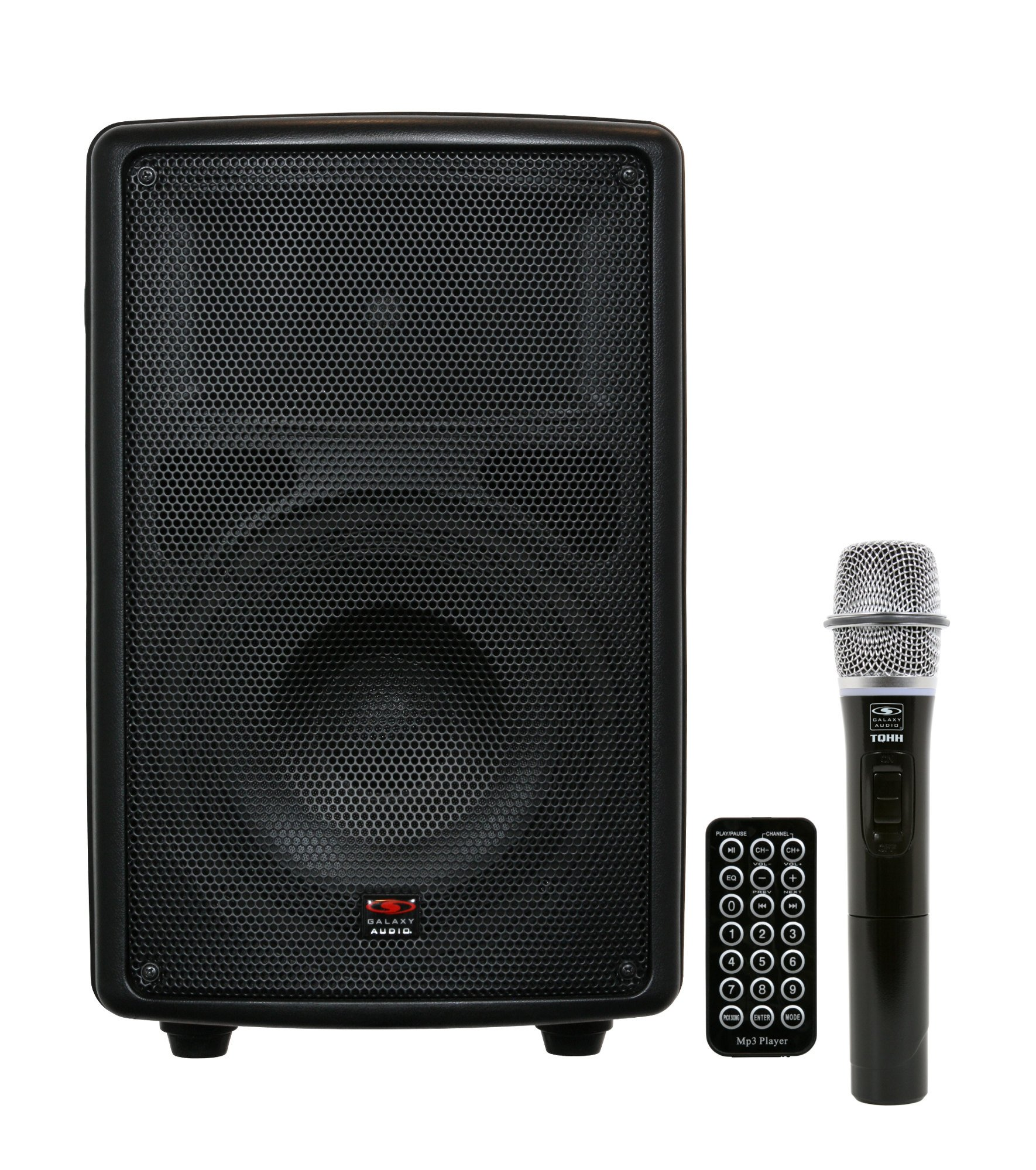 """Battery-Powered Portable Sound System with 8"""" Speaker & Wireless Handheld Microphone, 521.850MHz"""