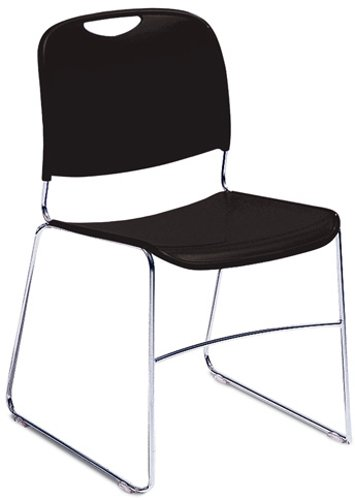 8500 Series Stacking Chair in Black