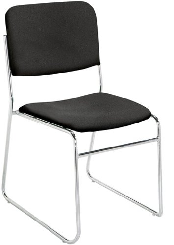 8600 Series Stackable Padded Chair in Ebony Black