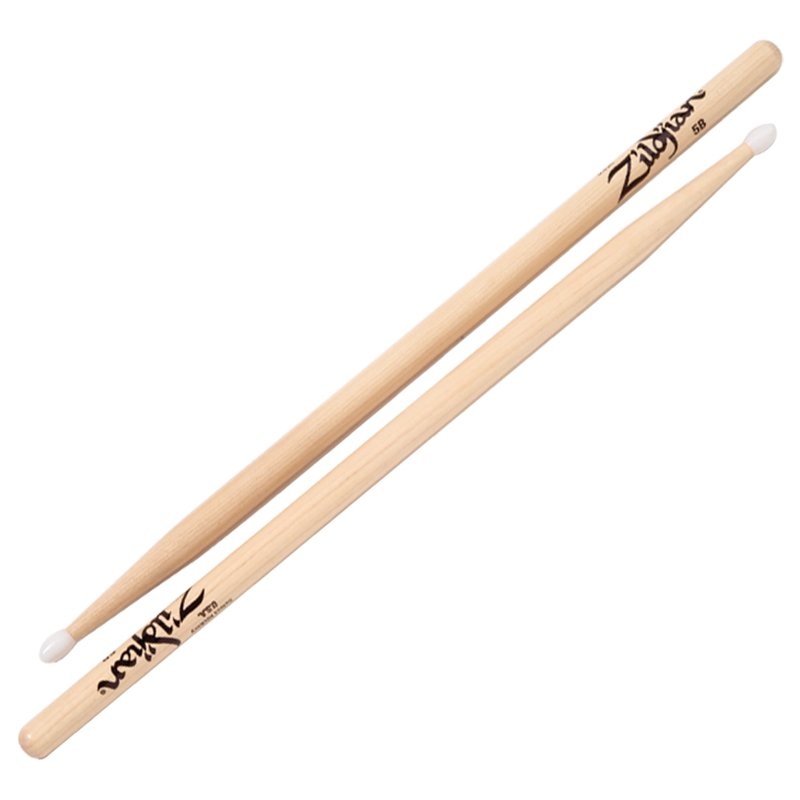 Natural Drumsticks, 5B Nylon Tip