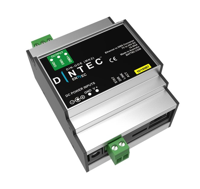 Enttec DIN-ODE MK2 Single Universe DIN Mount Open DMX Ethernet Gateway