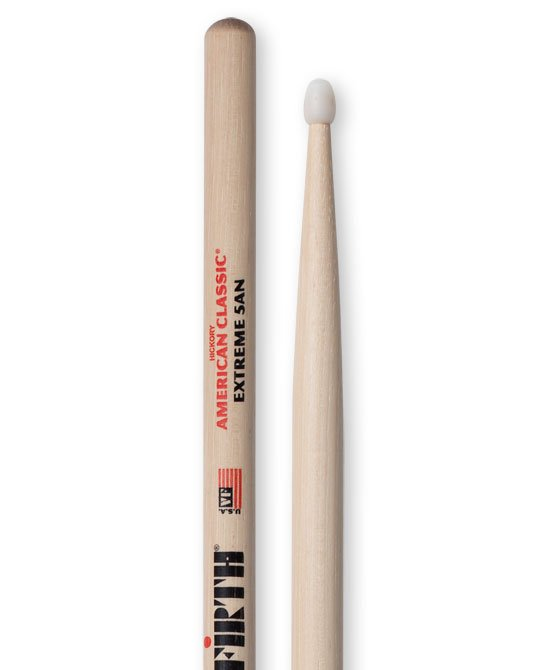 American Classic Extreme 5A Hickory Drumsticks with Nylon Tips