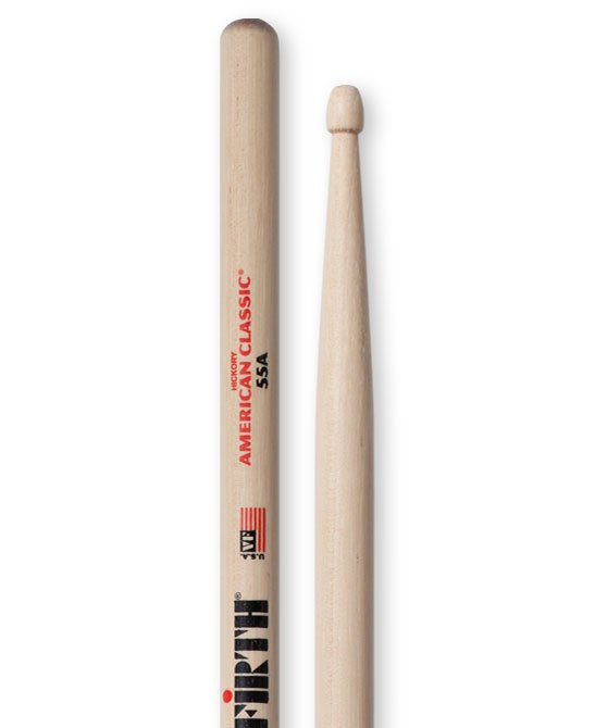 1 Pair of American Classic 55A Drumsticks with Wood Tip