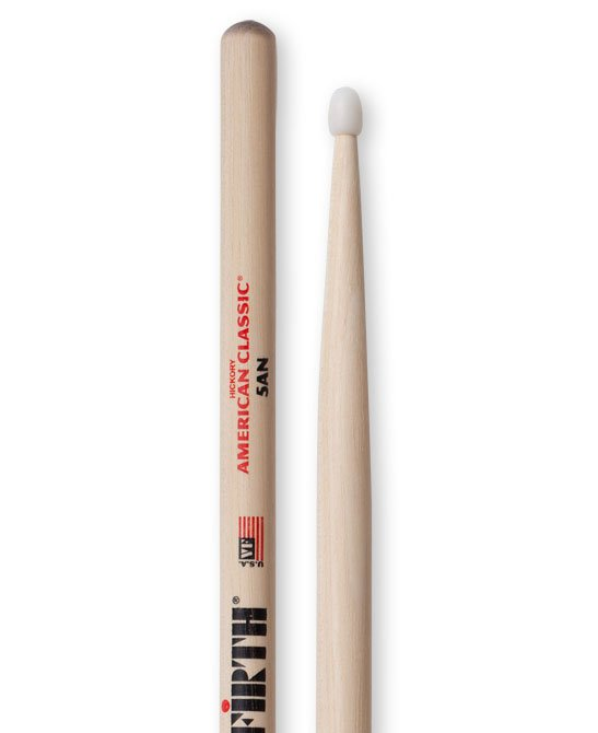 1 Pair of American Classic 5A Drumsticks with Nylon Tear Drop Nylon Tip
