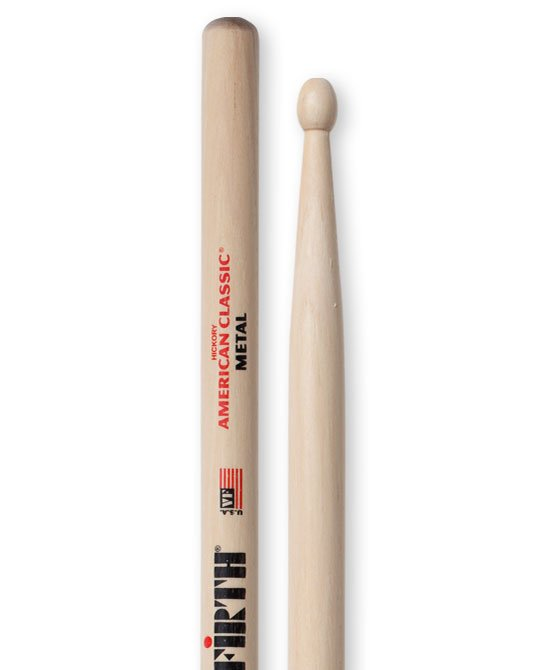 1 Pair of American Classic Metal Drumsticks with Oval Tip
