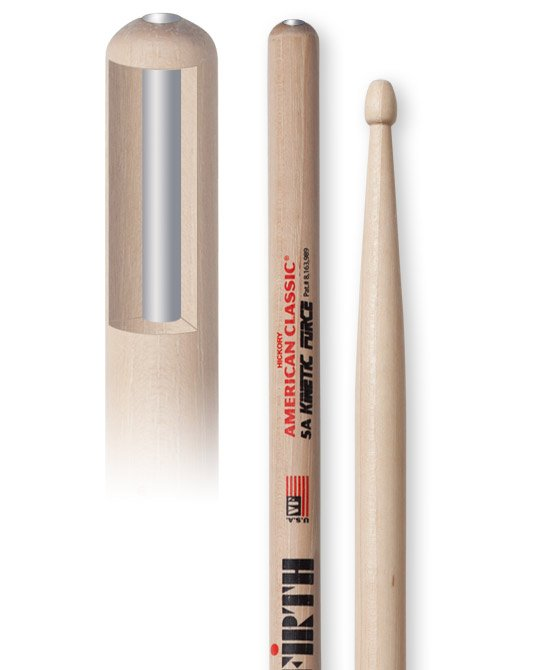 Vic Firth 5AKF 1 Pair of American Classic Kinetic Force 5A Drumsticks 5AKF