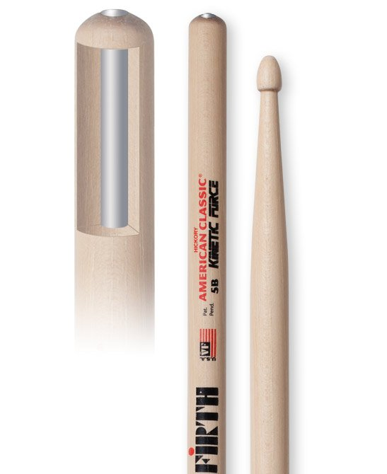 1 Pair of American Classic Kinetic Force 5B Drumsticks