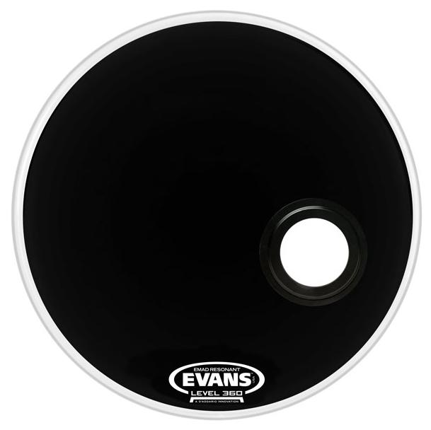 "22"" EQ3 Resonant Bass Drum Head in Black"
