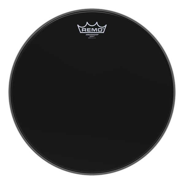 "22"" Ebony Ambassador Bass Drum Head"