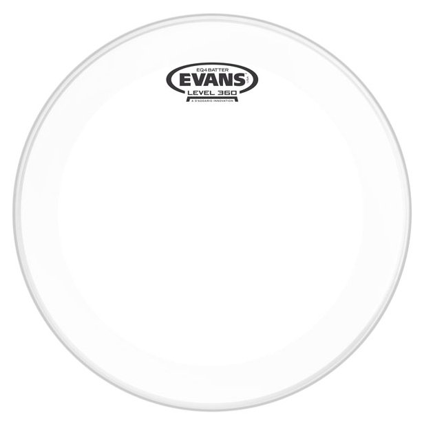 "22"" Clear Batter Bass Drum Head"