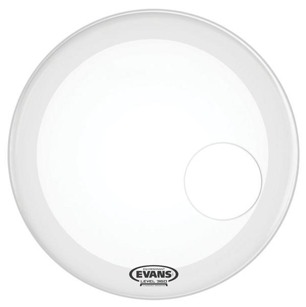 "20"" EQ3 Coated Resonant Bass Drum Head in White"