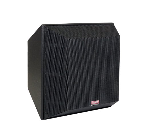 Three-Way Trapezoidal Enclosure Speaker, Black