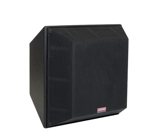 Three-Way Trapezoidal Enclosure Speaker, White
