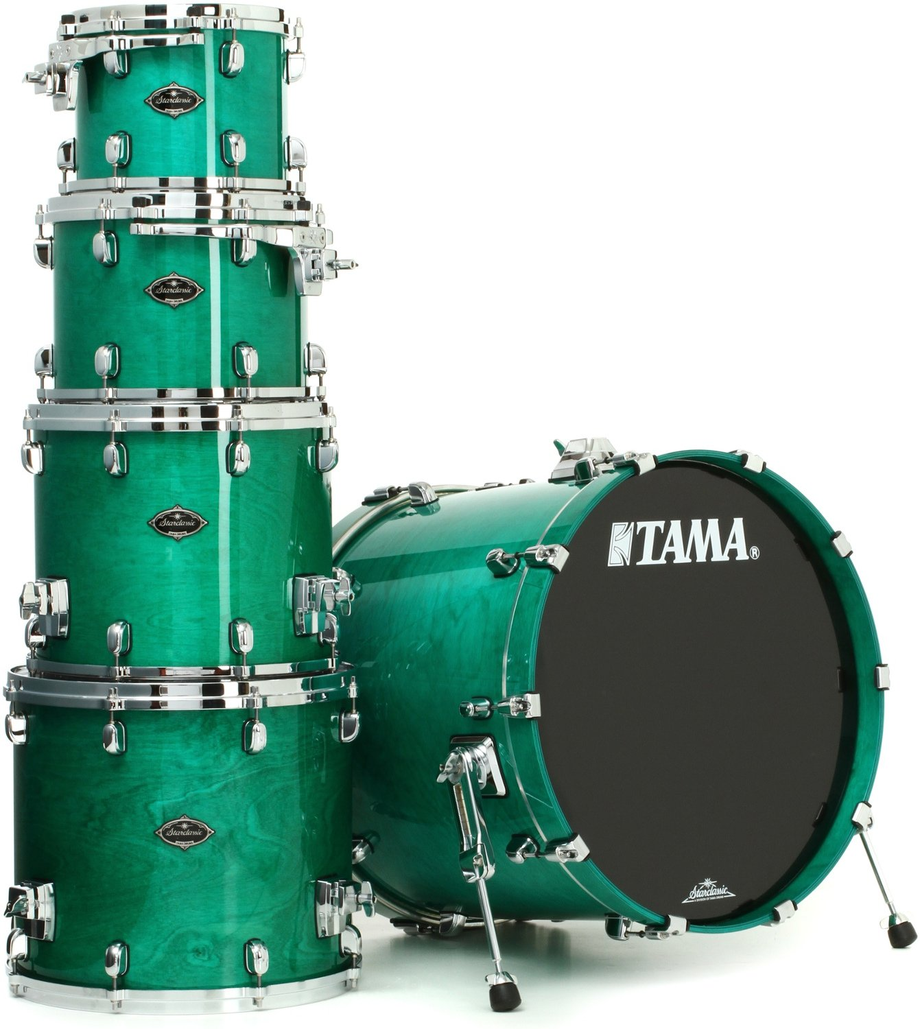 Tama TW52ZSMGN 5-Piece STAR Drum Walnut Shell Pack in Mint Green Mist Finish TW52ZSMGN