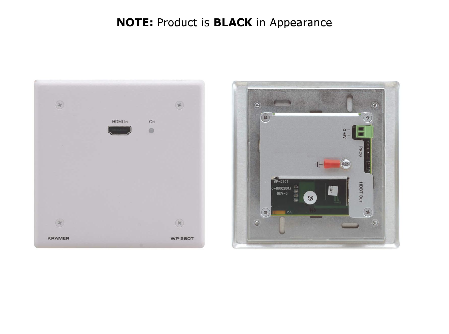 Black Wall Plate, HDMI over HDBaseT Transmitter