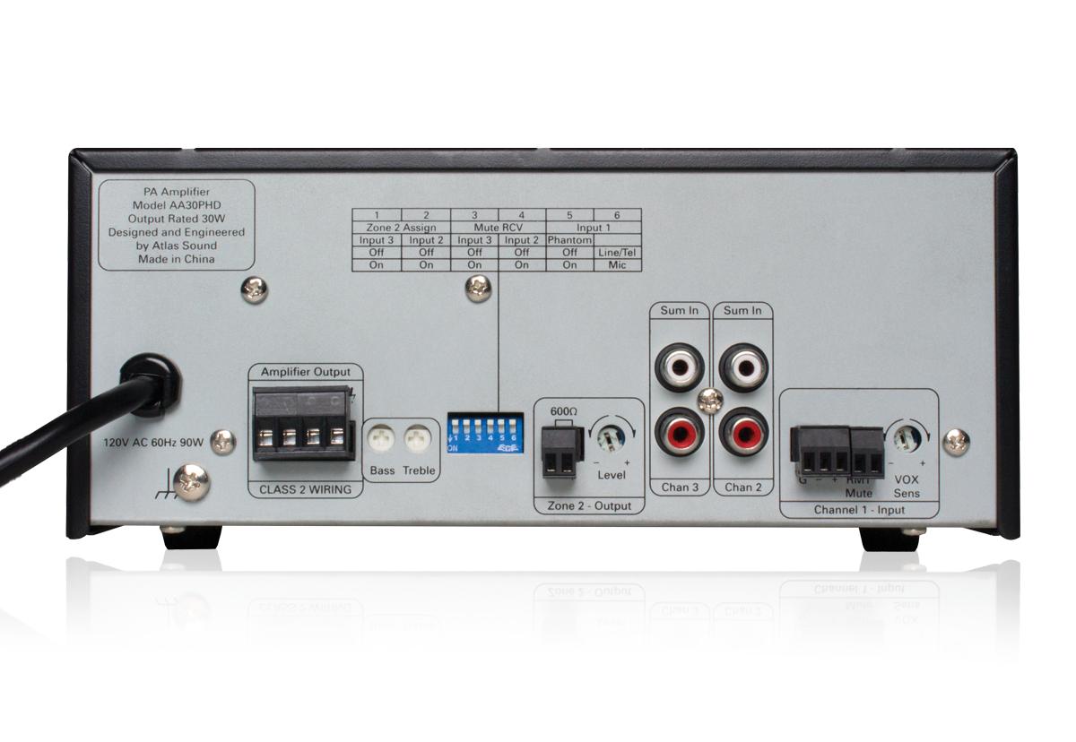 30 Watt 3-Input Mixer Amplifier