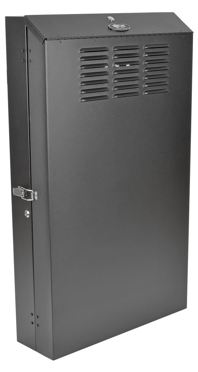 SmartRack 6RU Low-Profile Vertical-Mount Server-Depth Wall-Mount Rack Enclosure Cabinet