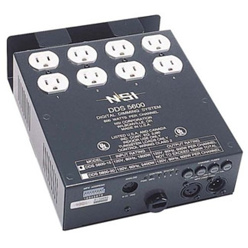 4-Channel 600W/CH Dimmer/Relay System with DMX Installed, 20 A Power Supply Cord