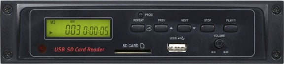 Rack-Mount Digital Media Player (with SD & USB Card Inputs)