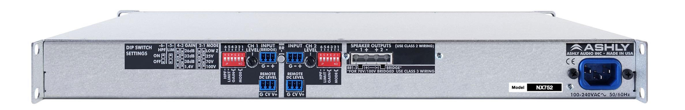2 x 75 Watts @ 2 Ohms Power Amplifier