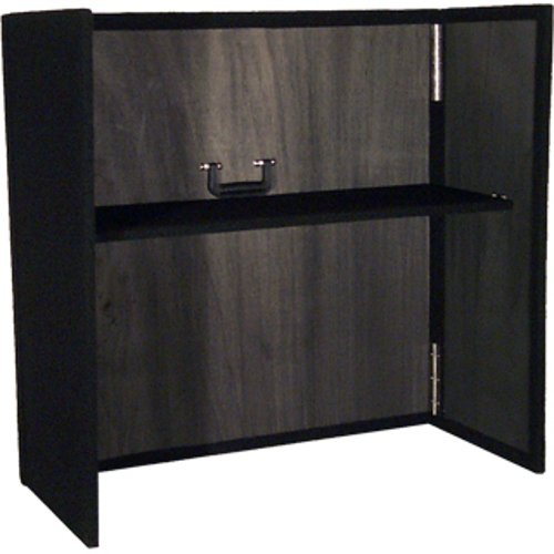 "34""x36"" DJ Facade in Black with Shelf"