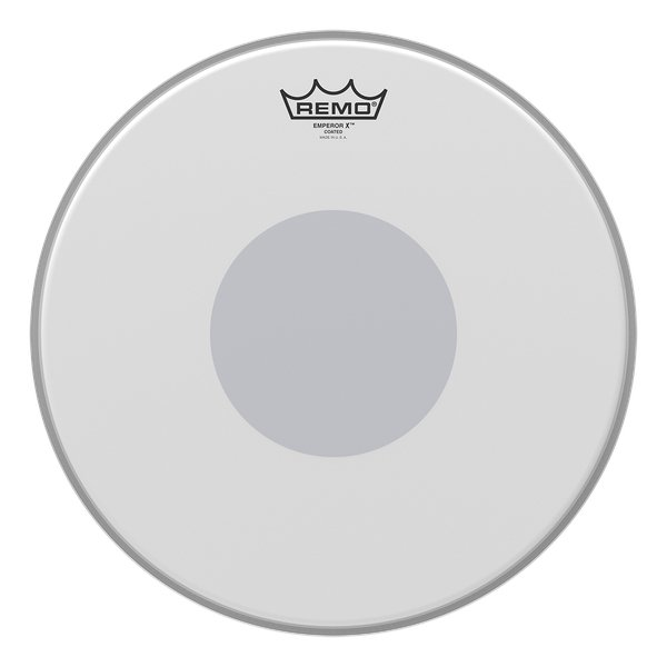 """13"""" Emperor X Snare Batter Drum Head with Black Dot on Bottom"""