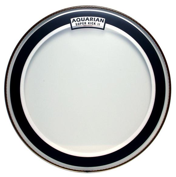 "Aquarian Drumheads SKII-24 24"" Super-Kick II Two-Ply Clear Bass Drum Head SKII-24"