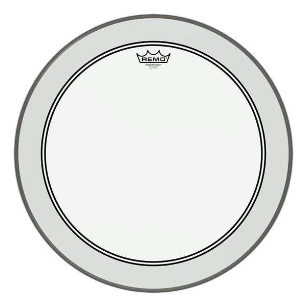 "24"" Powerstroke 3 Clear Bass Drum Head"
