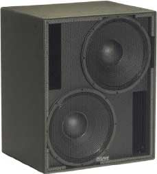 """Subwoofer, Dual 15"""", 1050W @ 4 ohms (LF1/LF2), for Permanent Installation Use, Black"""