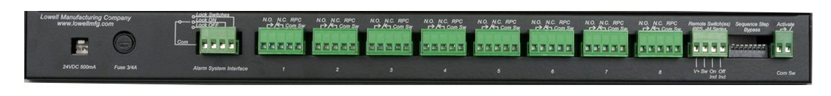 1RU 8-Step Power Sequencer with Key Switch