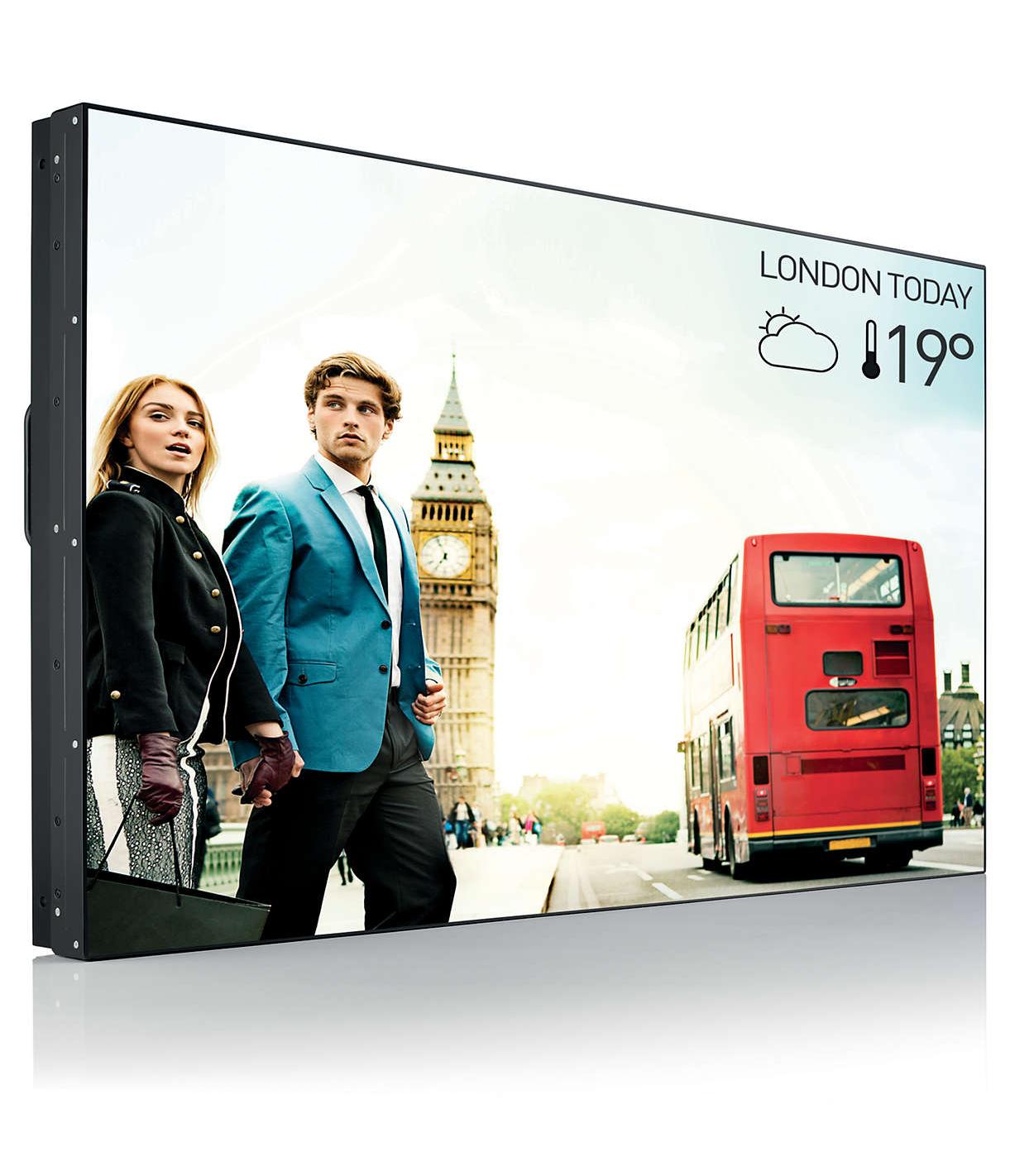 "49"" 450nits X-Line Zero Bezel LED Video Wall Display"