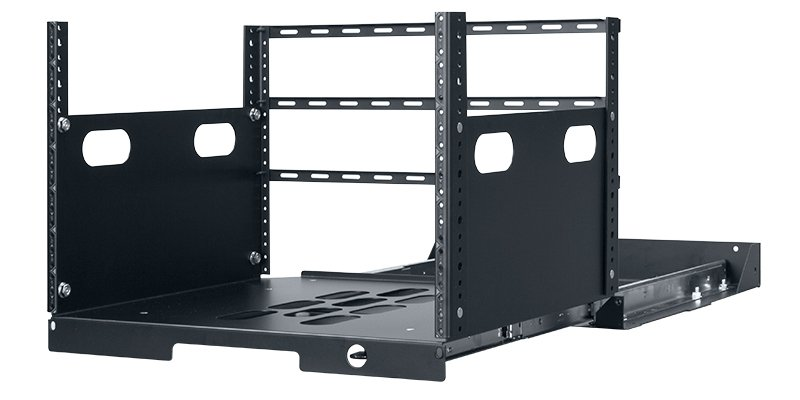 "7RU, 19"" Deep Pull-Out Rack with 2 Rail Slides"