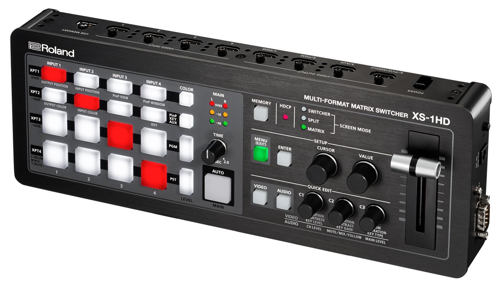 4x4 HD Multi-Format Matrix Switcher