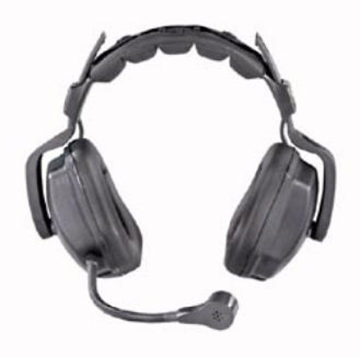 Ultra D Heavy Duty Dual-Ear Headset with 5-Pin Male XLR for Wired Intercoms
