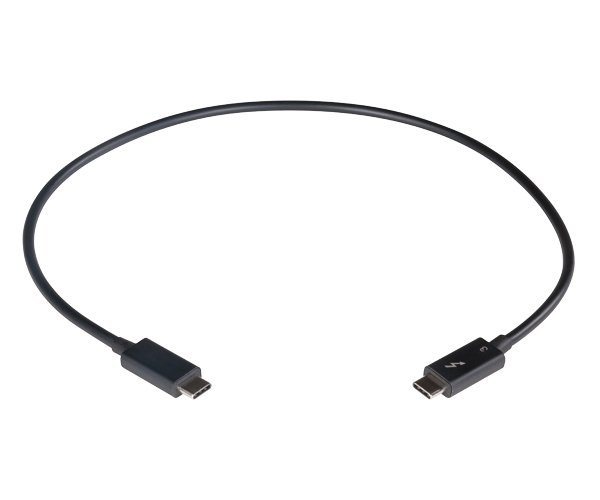 0.5m Thunderbolt 3 Cable, 40Gpbs, Black
